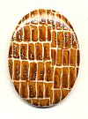 Plastic Oval Cabachons<br>40 x 30mm Snakeskin Pattern<br>2 dozen for