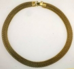 Brass Mesh Collar<br>3 Pieces For