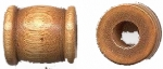 Wooden Drum Beads<br>22 x 12mm Light Brown<br>1 gross for