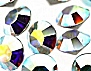 Machine Cut Rhinestones - India<br>Crystal Aurora Borealis Chatons<br>10 gross for