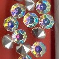 Glass Rhinestones<br>Crystal Aurora Borealis in Medium sizes<br>2 gross per order