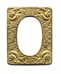 Brass Stamping<br>3&quot; x 2-1/2&quot; Frame<br>4 pieces for