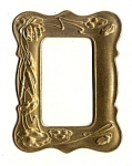 Brass Stamping<br>3-3/8&quot; x 2-3/2&quot; Frame<br>4 pieces for