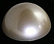Plastic pearl, Cabochon<br>35mm<br>1 dozen for