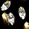 Rhinestones in settings<br>8 x 4mm Navettes<br>Crystal<br>1 gross for