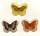 Plastic Limoges<br>42 x 32mm - Butterflies ~ Pastel Assortment<br>1 dozen for