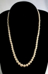Imitation Glass Pearl Necklace<br>Graduated 17 1/2 Inches<br>1 For