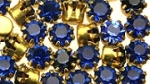 Rhinestones in settings<br>17ss Capri Blue<br>2 gross for
