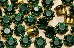 Rhinestones in settings<br>17ss Emerald<br>2 gross for