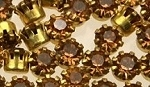 Rhinestones in settings<br>17ss Light Smoke Topaz<br>2 gross for