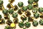 Rhinestones in settings<br>17ss Olivine<br>2 gross for