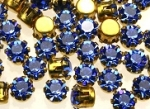 Rhinestones in settings<br>17ss Sapphire<br>2 gross for