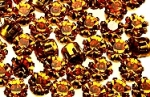 Rhinestones in settings<br>17ss Topaz<br>2 gross for