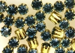 Rhinestones in settings<br>19ss Montana Sapphire<br>2 gross for