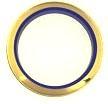 Two-Tone Lucite Bracelet<br>Navy Blue / Gold<br>1 dozen for