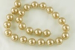 9.5mm Plastic Pearl Beads<br>Molded-on-Thread<br>100 feet for