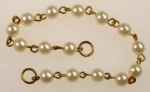 6mm Linked Pearl Bead Chain<br>36 Pieces For