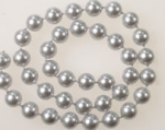 8mm Plastic Pearl Beads<br>Molded On Thread<br>100 Feet For