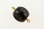 Black Horn 2 loop Beads<br>Available in 12mm and 15mm<br>100 Pieces For