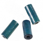 Wooden Tube Bead<br>18mm x 8mm Blue<br>1000 For