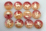 Plastic Zodiac Cameos<br>25mm<br>3 Dozen Sets For