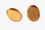 25 x 18mm Flat-Back Setting - Raw Brass<br>1 gross for