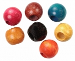 Wood Beads<br>21mm x 19mm<br>1 Gross For