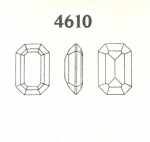 Swarovski ART #4610 Octagons<br>18 x 13mm<br>Unfoiled Gemstone Colors<br>1 dozen for