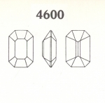 Swarovski ART #4600 Octagons<br>18 x 13mm<br>Unfoiled Gemstone Colors<br>1 dozen for