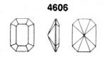 Swarovski ART #4606 Octagons<br>18 x 13mm<br>Unfoiled Gemstone Colors<br>2 dozen for