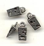 Pewter Swiss Cheese Charms<br>Lead-Free<br>1/2 gross for