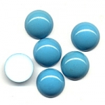 Plastic Cabochons<br>18mm Turquoise<br>1 gross for