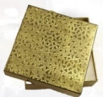 "Gold Foil Box<br>3 1/2""x 3 1/2"" x 1"" Deep<br>1 Dozen For"