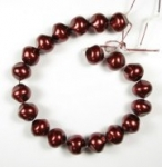 Glass Pearl Strands<br>18mm beads<br>2 strands (40 beads) for