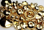 Gold Plated Plastic Beads<br>3 Pounds For