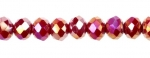 Ruby Red Rondelles<br>1 Strand For