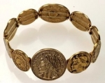 """Old World"" Coin Bracelets<br>1 Dozen For"