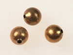 Brass Beads<br>10mm Textured<br>1 gross for