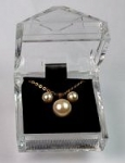 Pearl Pendant  And Earring Set<br>1 Dozen For