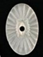 Glass Stone<br>20 x 13mm Sun Ray Motif<br>Camphor Style<br>1/2  Gross For