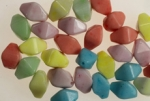 15 X 10mm Glass Bead<br>Pastel Colors<br>1 Pound For
