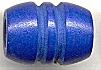 Wooden Tube Beads<br>29 x 21mm Blue<br>100 pieces for
