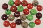 9mm Glass Beads<br>Assorted Colors<br>1 Pound For