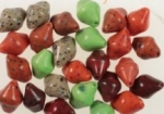 12 X 9mm Glass Beads<br>Assorted Colors<br>1 Pound For