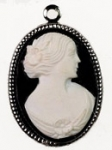 25 X 18 mm Cameo Pendant<br>1 Dozen For