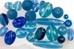 Assorted Glass Beads<br>Blue Assortment<br>1 Pound For