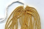 3mm Gold-Tone Plastic Bead<br>12 strands for