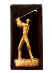 Glass Picture Stones<br>Golfer 27mm x 13mm<br>4 Dozen For