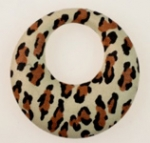 Imitation Leopard Skin Hoop<br>50mm<br> 36 Pieces For