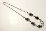 Station Necklace<br>Imitation Rhodium Plated<br>1 Dozen For